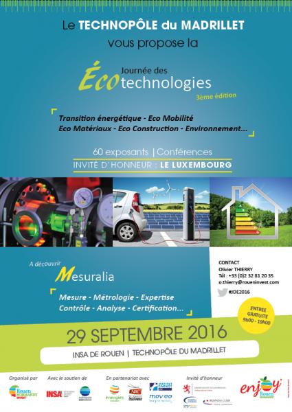 Téléchargez l'affiche Journée des Ecotechnologies 2016