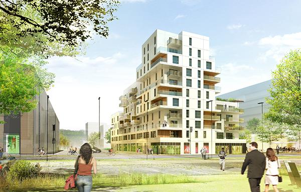 Le Luciline, nouvel écoquartier à Rouen