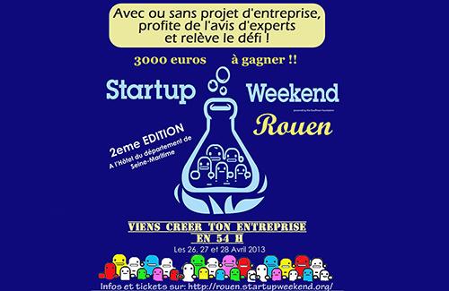 Le prochain Start-up Weekend à Rouen se déroulera du 26 au 28 avril 2013