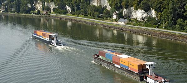 Le trafic fluvial depuis le Grand Port Maritime de Rouen - P. Boulen