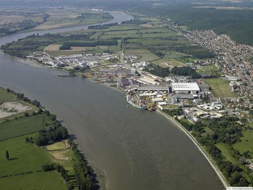 Vue aérienne du parc d'activités Le Malaquis