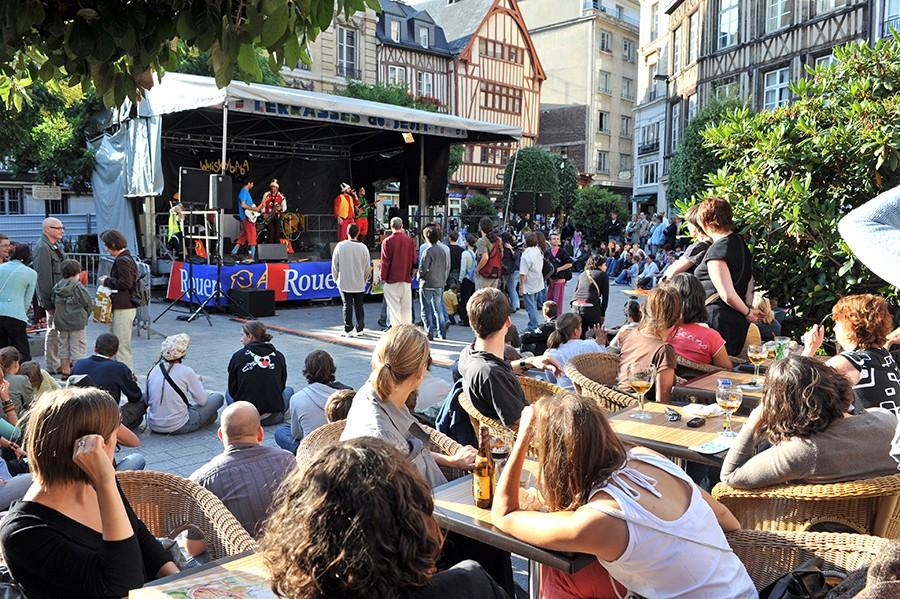 Les terrasses du jeudi à Rouen - Office de Tourisme