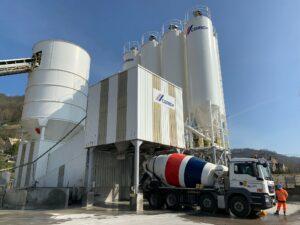 Site de production CEMEX à Amfreville la Mivoie