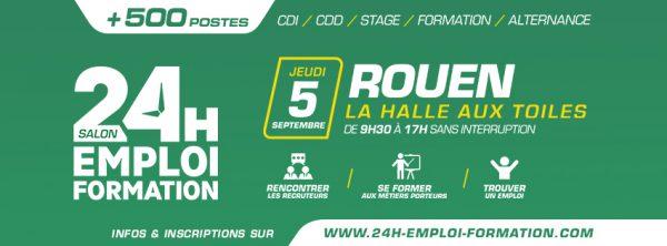Salon 24h pour l'Emploi et la Formation - Rouen 2019
