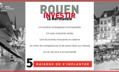Et si on vous donnait 5 excellentes raisons de vous implanter à Rouen en Normandie ?