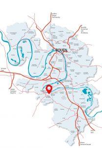 Localisation Activa Park à Caudebec les Elbeuf