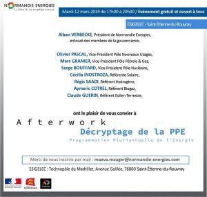 Afterwork Normandie Energie 12 mars 2019 Esigelec