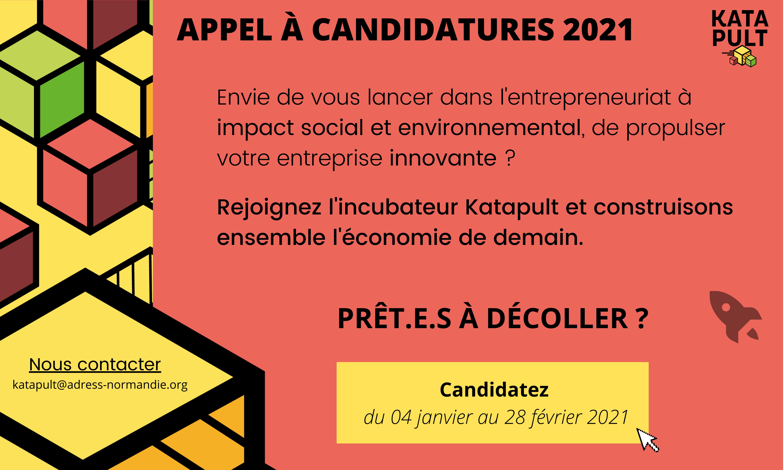 Appel à candidature Katapult 2021