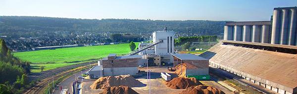 L'usine Saipol de Grand Couronne héberge l'une des plus grosses centrales de cogénération biomasse