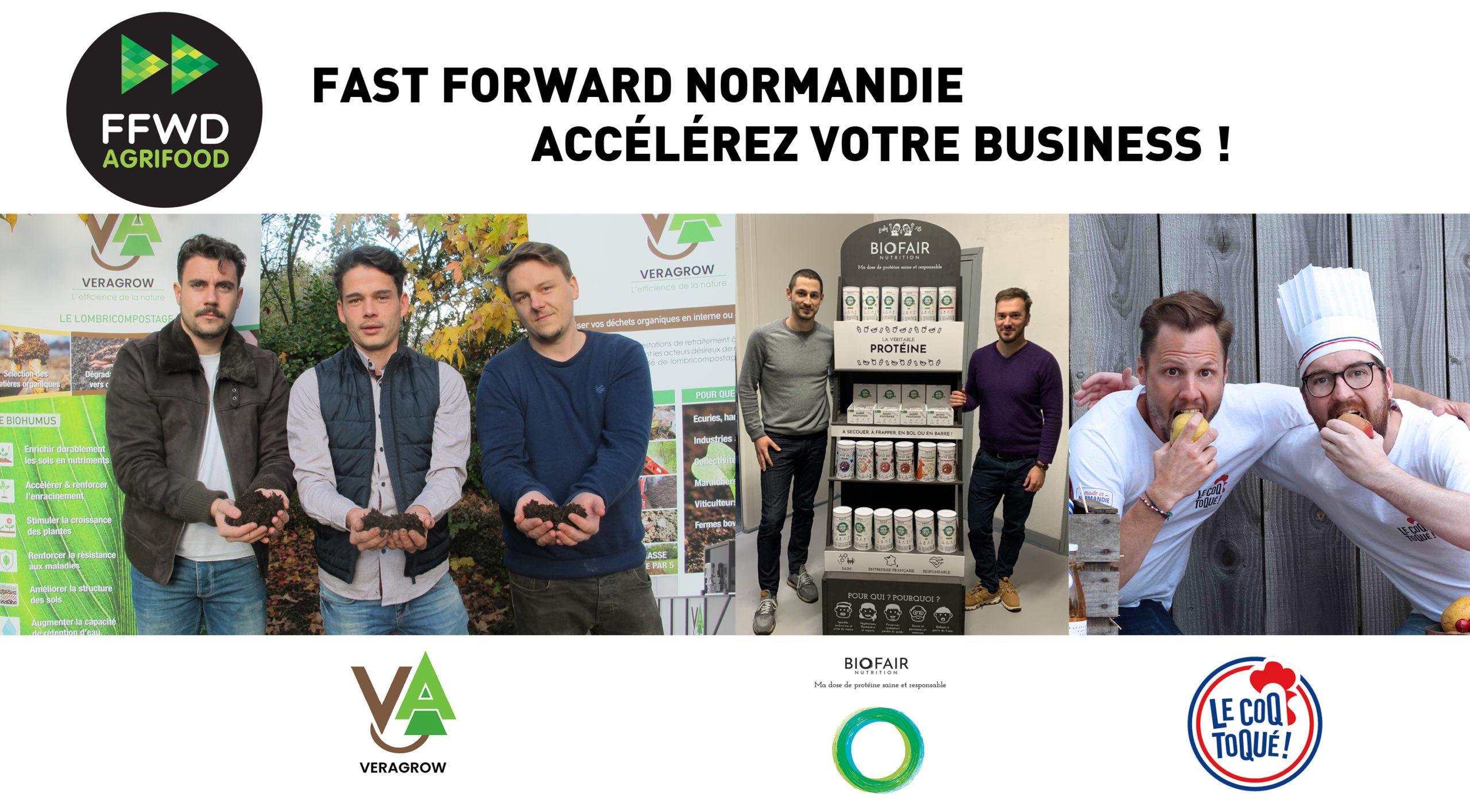 Les trois startups rouennaises sélectionnées dans le cadre du programme Fast Forward Agrifood 2020
