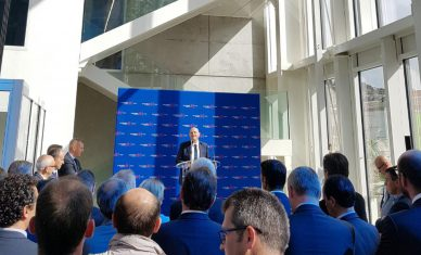 Inauguration siège régional Normandie Centre de Vinci Construction à Rouen