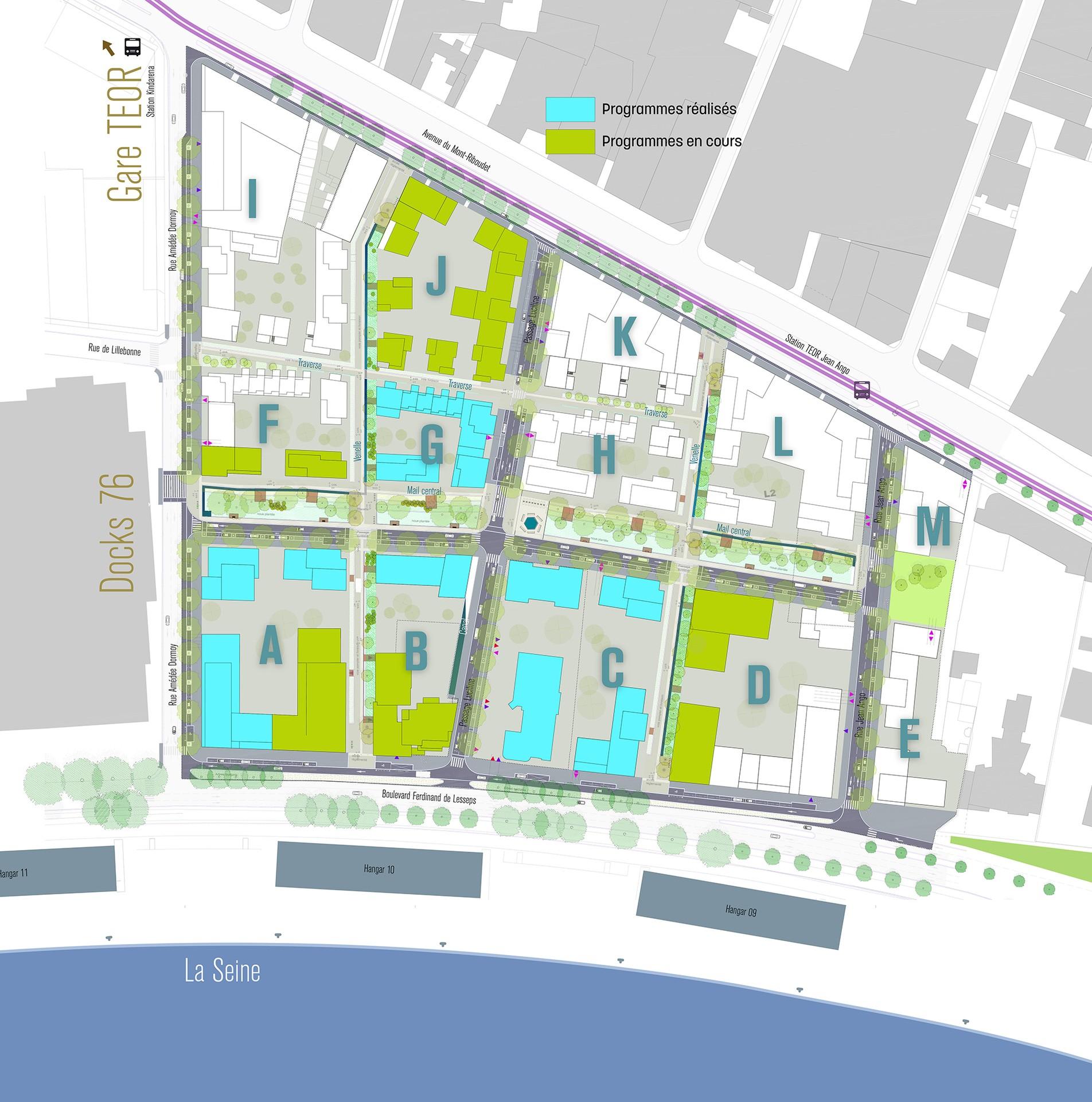 Les 4 Pieds Rouen logements et surfaces d'activites au pieds du pont flaubert