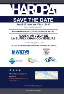 Rouen, au coeur de la supply chain conteneurs, le 13 juin 2019