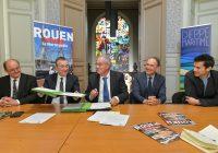 Signature d'une convention partenariale entre Rouen Normandy Invest et Dieppe Maritime
