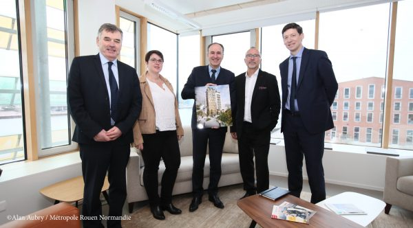 Signature d'une convention de développement pour Rouen Flaubert ©Alan Aubry / Métropole Rouen Normandie