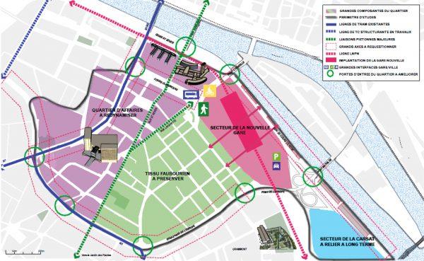 Saint Sever Nouvelle Gare Map