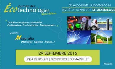 J-30 pour la 3e Journée des Écotechnologies