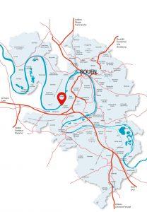 Localisation Entrepôt P3, pac logistique Rouen - Grand-Couronne