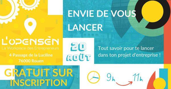 Opensen Rouen, pour lancer son projet d'entreprise !