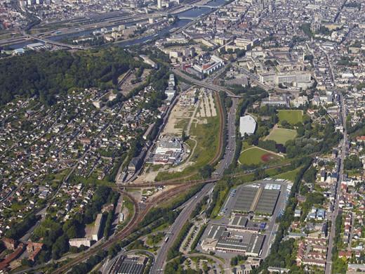 Vue aérienne de Rouen Innovation Santé